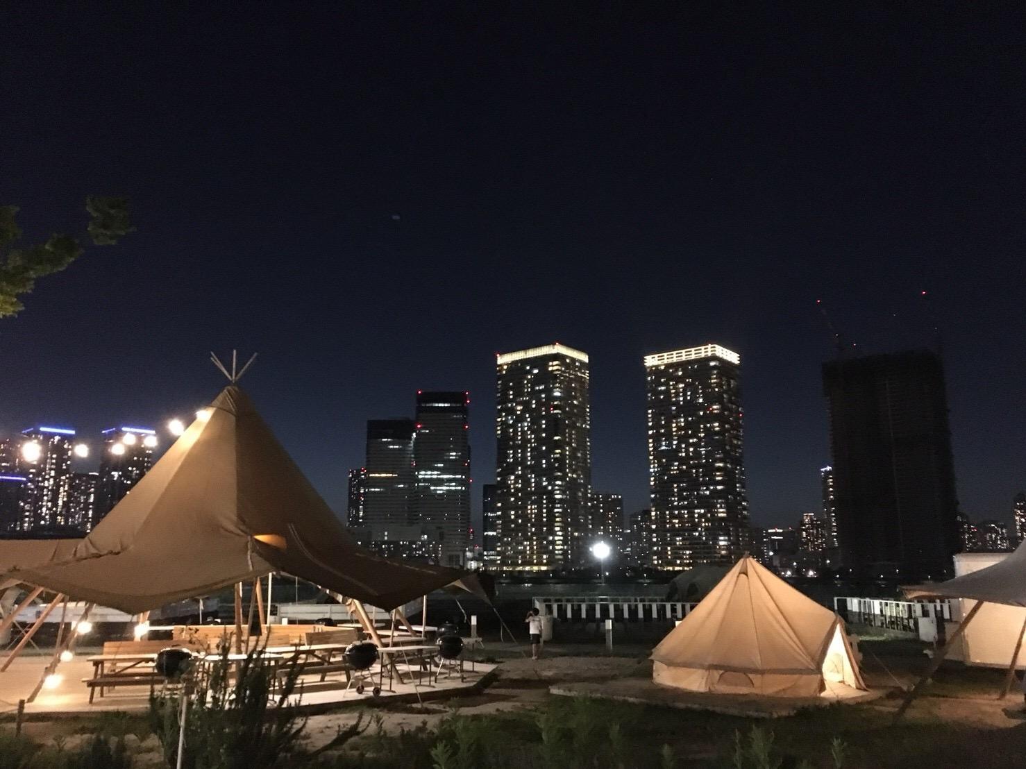 真夏の夜のBBQ 〜夜景×キャンプファイヤー×グランピング〜